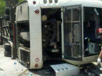 Otobüs devrildi: 5 ölü