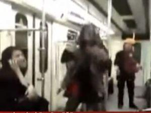 İran'da genç kadının metrodaki dansı