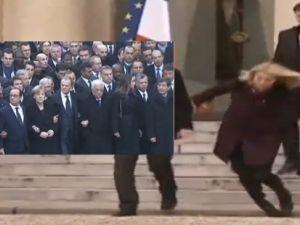 Liderlerin teröre lanet yürüyüşü